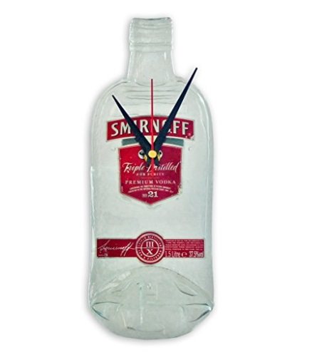 Smirnoff Vodka Bottle Kitchen Wall Clock
