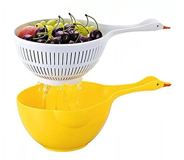Duck Shape Fruit and Rice Washer by Hulisen