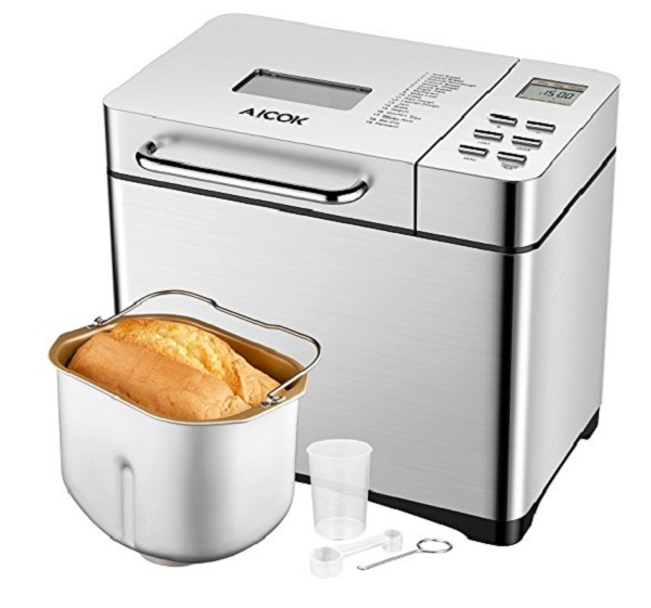 Aicok Professional 2.2LB Programmable Bread Machine