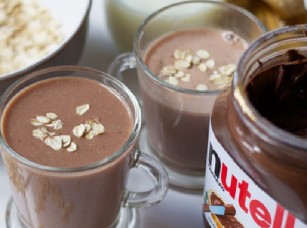 Nutella, Banana & Oat Breakfast Milkshake