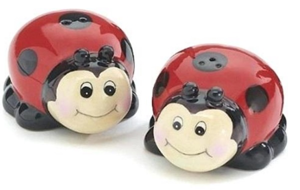 Ladybird Shaped Salt and Pepper Shakers