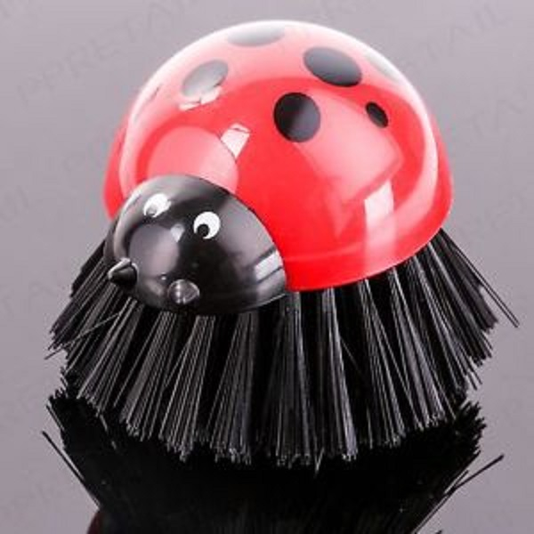 Ladybird Shaped Dish Scrubbing Brush