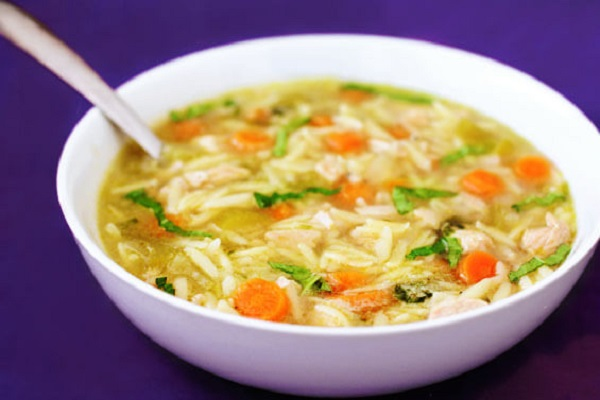 Basil, Chicken & Orzo Soup