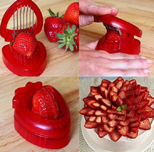 Strawberry Shaped Fruit and Egg Slicer