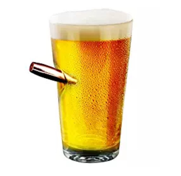 Barbuzzo Last Man Standing Bullet Pint Glass
