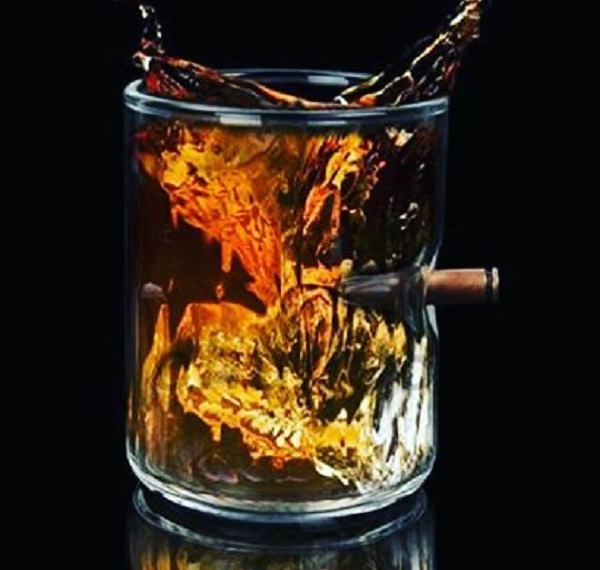 Beyond S - .308 Bullet whiskey glass