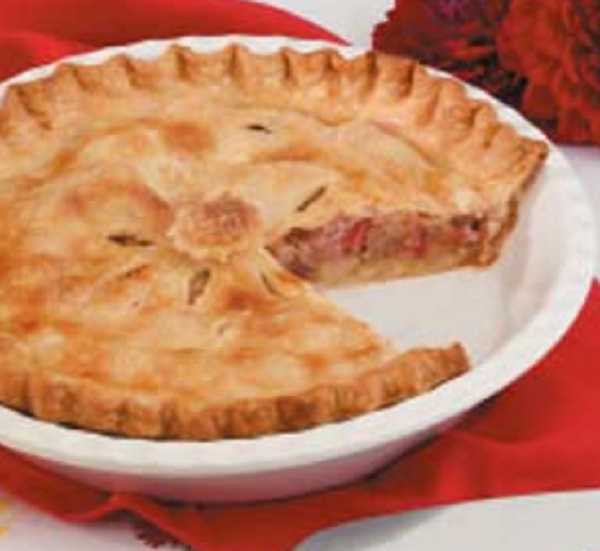 Double-Crust Rhubarb Pie