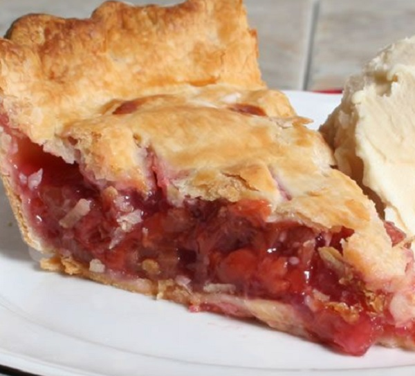 Rhubarb and Cherry Pie