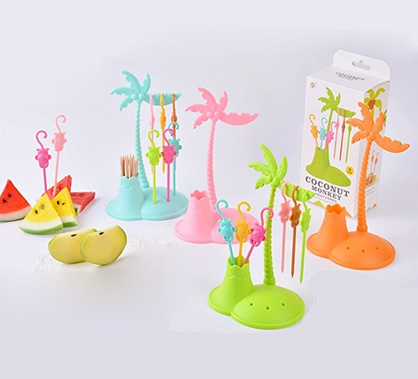Funny Monkeys Fruit Forks