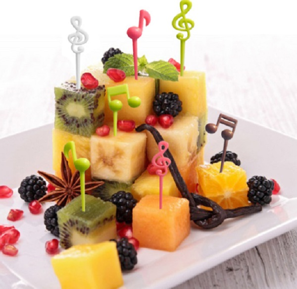 Music Notes Fruit Forks