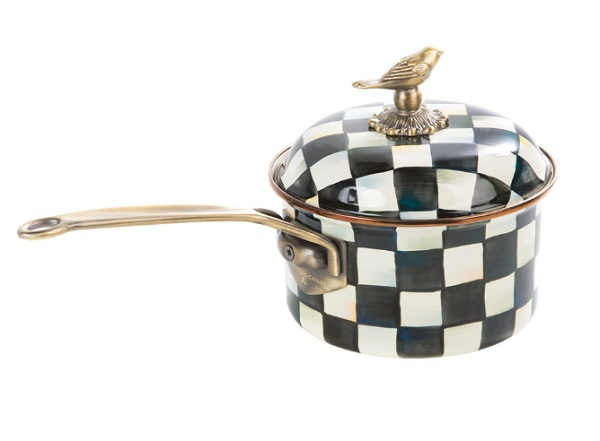 Courtly Check Enamel Saucepans