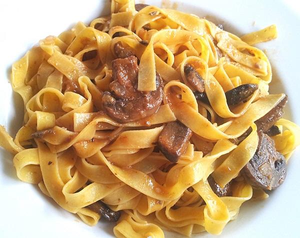 Beef and Mushroom Tagliatelle