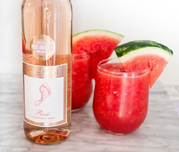 Watermelon Rosé Wine Slushie
