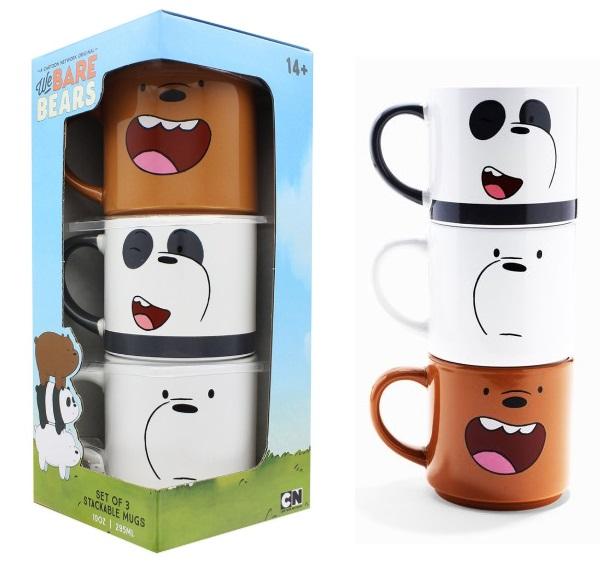 We Bare Bears Stackable Mugs