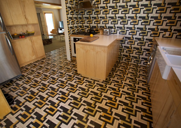 Crazy Tiles Kitchen Floor Design
