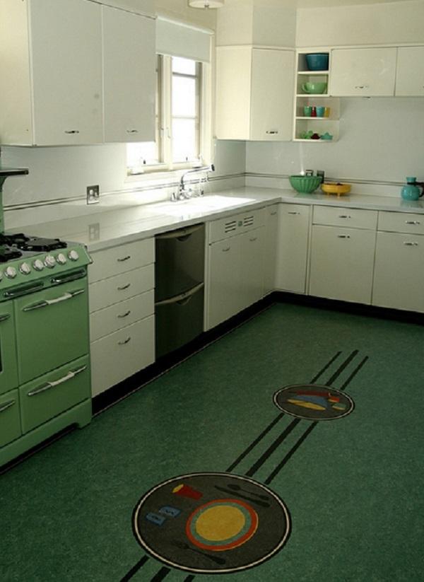 Dinner Plate Kitchen Floor Design