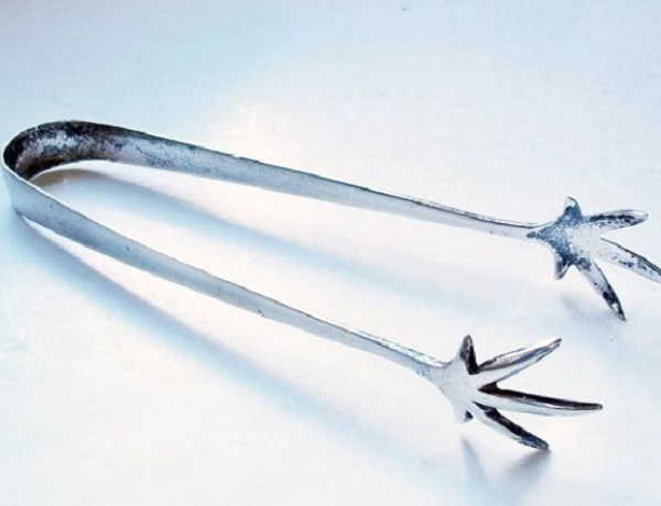 Jack Frost Silver Plated Kitchen Tongs