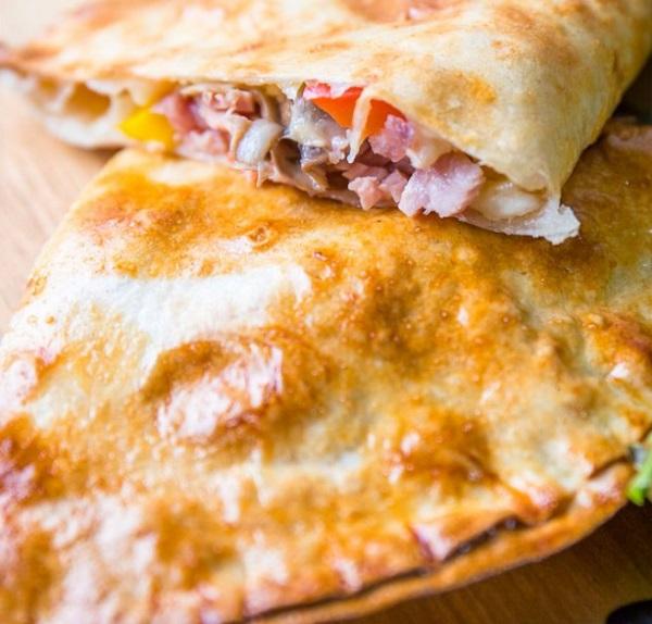 Syn-Free Ham and Mushroom Pizza Calzone