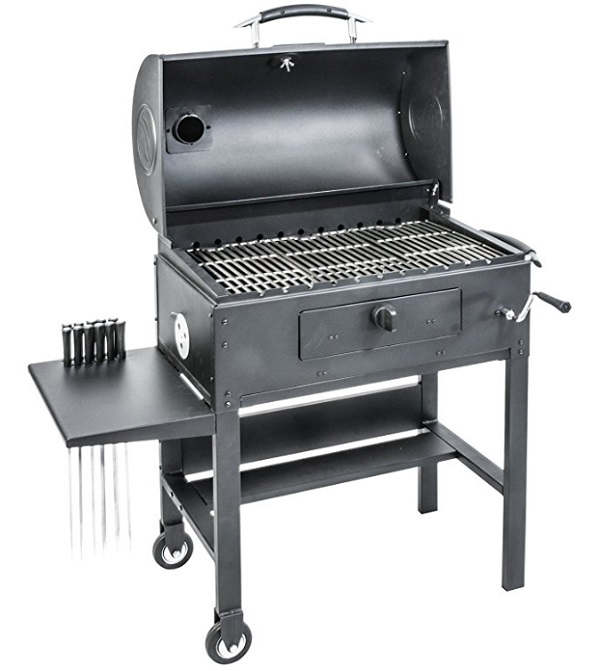Blackstone 3-in-1 Kabob, Barbecue & Smoker Grill (With Automatic Rotisserie)