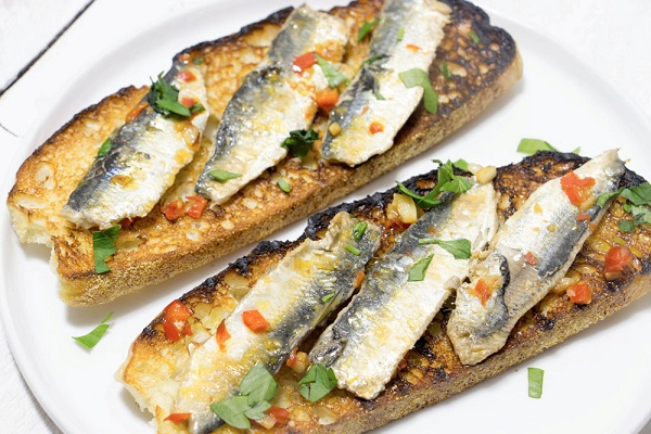 Pan Fried Sardines on Toast