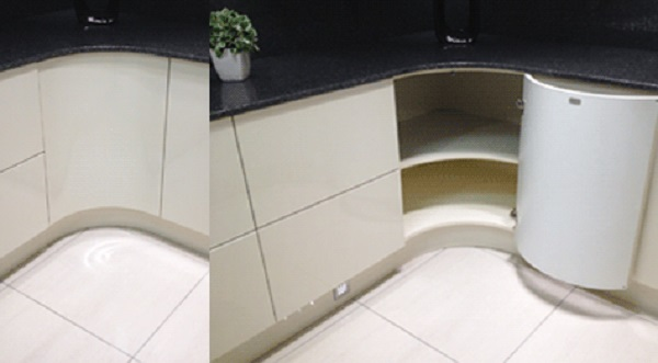 Curved Corner Door Kitchen Corner Unit