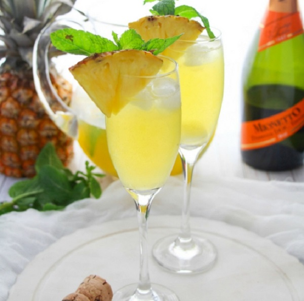 Pineapple Prosecco Party Punch