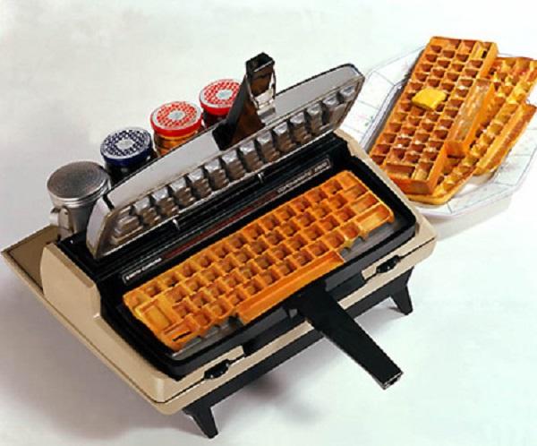 Keyboard Waffle Quick Maker Kitchen Gadget