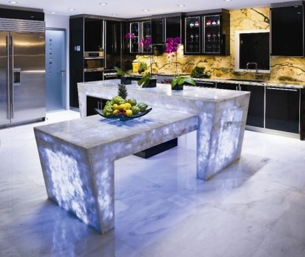 Kitchen Worktops Made With Quartz Crystal