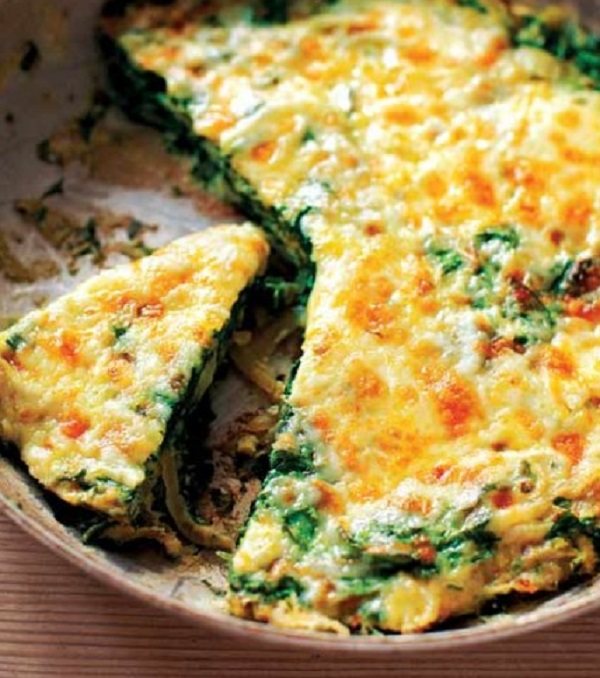 Spinach and Onion Spanish Tortilla