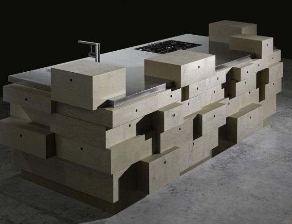 Modern Art Style Kitchen Island