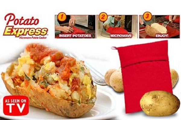 Potato Express Microwave Jacket Potato Bag Cooker
