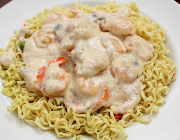 Creamy Shrimp Stroganoff