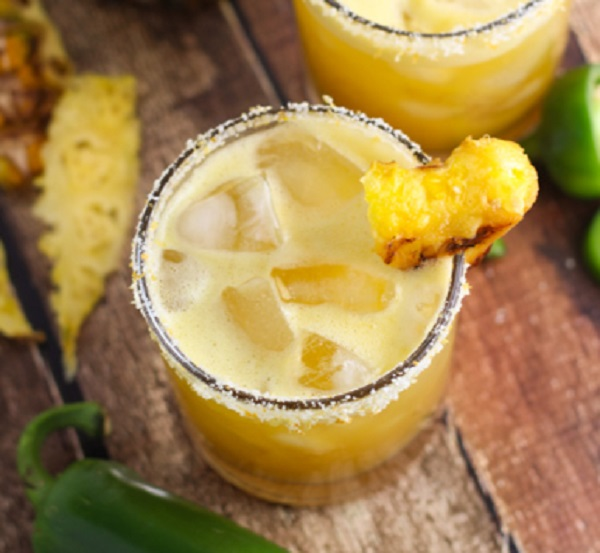 Grilled Pineapple Jalapeno Margarita