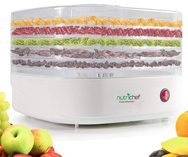 NutriChef Professional Electric 5 Tier Fruit, Veg and Herb Dehydrator