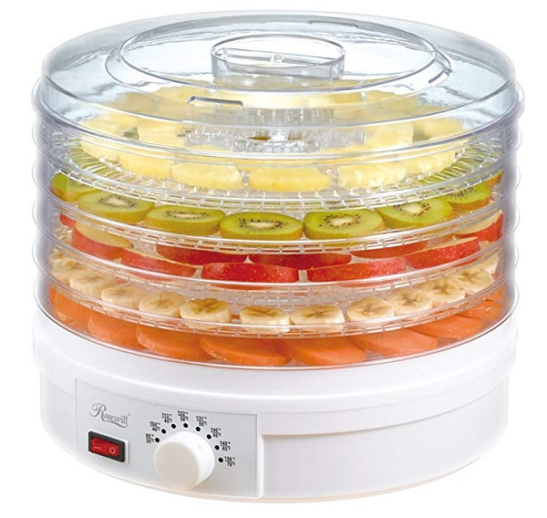 Rosewill Countertop Electric 5 Tier Fruit, Veg and Herb Dehydrator