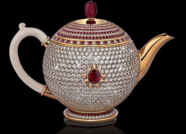 The Egoist Diamond Covered Teapot