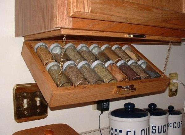 Under Kitchen Cabinet Spice Rack