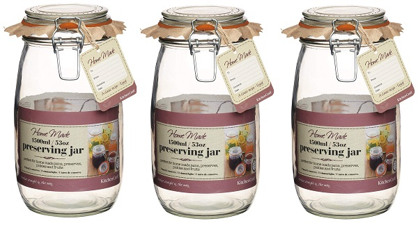 KitchenCraft Glass 2.1 Litre Preserving Jar