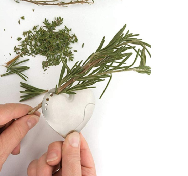 RSVP International Stainless Steel Greens and Herb Stripper