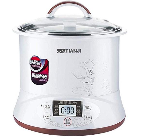 Tianji DGD22-22EG Ceramic Pot Electric Slow Cooker