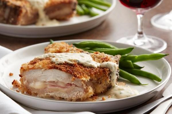 Ham and Cheese-Stuffed Pork Chops