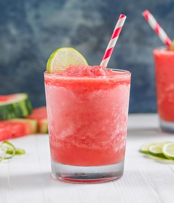 Frozen Watermelon Daiquiri Cocktail