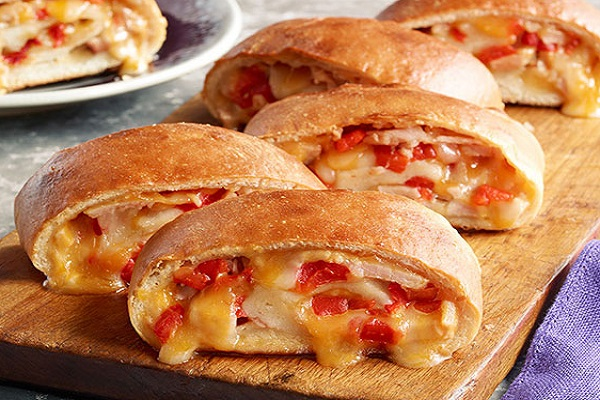 Cheesy Turkey Stromboli