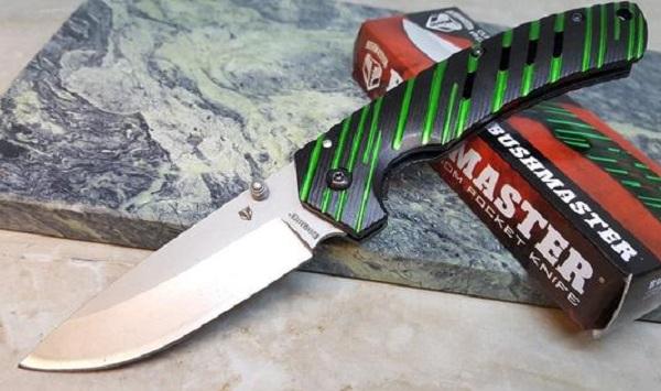 BushMaster Green Venom Folding Kitchen Knife
