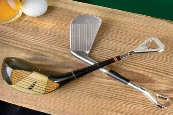 Golf Club Head Bottle Openers - Iron and Wood