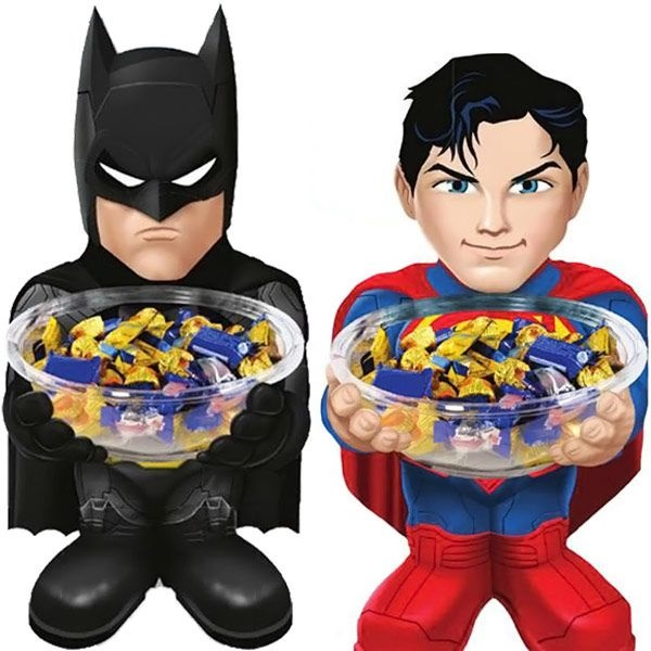 DC Comics Superman and Batman Candy Bowl Holders
