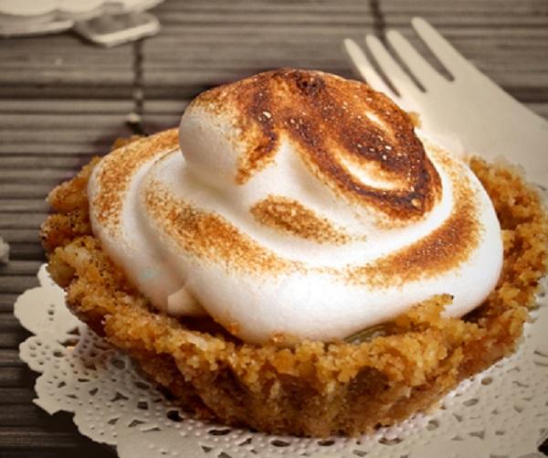 Digestive Biscuit Passionfruit Meringue Tartlets