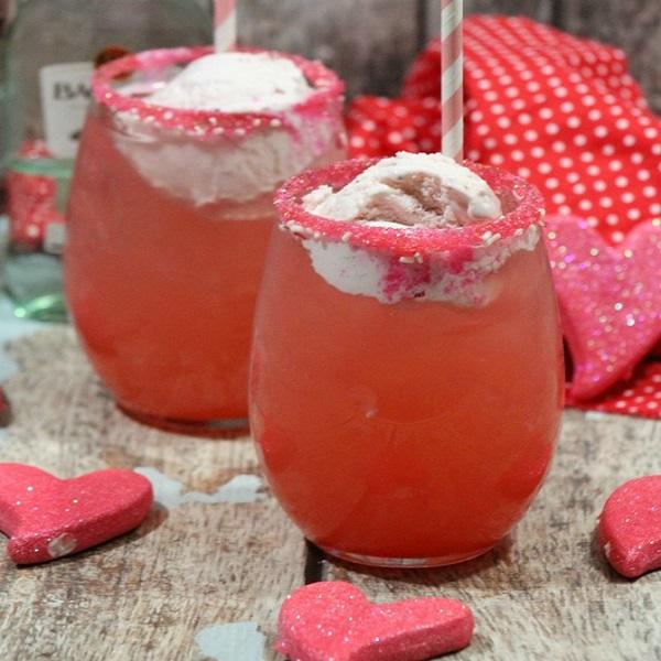 Alcoholic Strawberry Sunshine Float