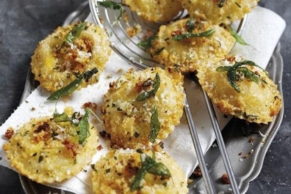 Crispy Parmigiano Reggiano and Sage Ravioli