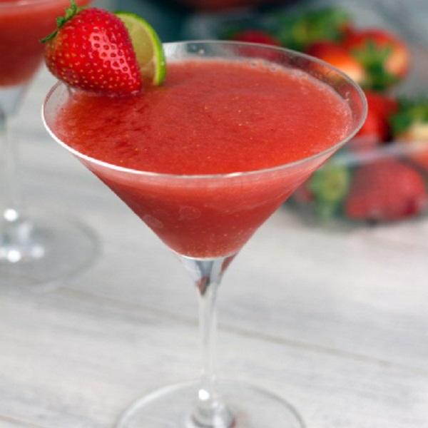 Strawberry Cosmopolitan Frozen Cocktail